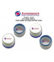 Kod: PV 632 - Vidalı 32mm kilitli Plastik şişeye yapışan contalı 3parça