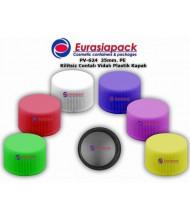 Kod: PV 624 - Vidalı plastik 24-25mm kilitsiz contalı kapak