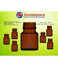 Kod: 3042 -  30ml. Amber İlaç Şişesi
