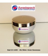 İthal Akrilik Krem Kavanozu 1425 - 25 ve 30 gr