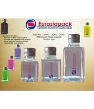 Alüminyum Kapaklı Plastik Şişe - Kod 402-20ml.-30ml - 50ml.
