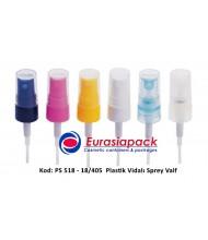 Kod: PS 518 - 18/405 Vidalı Plastik Sprey Valf